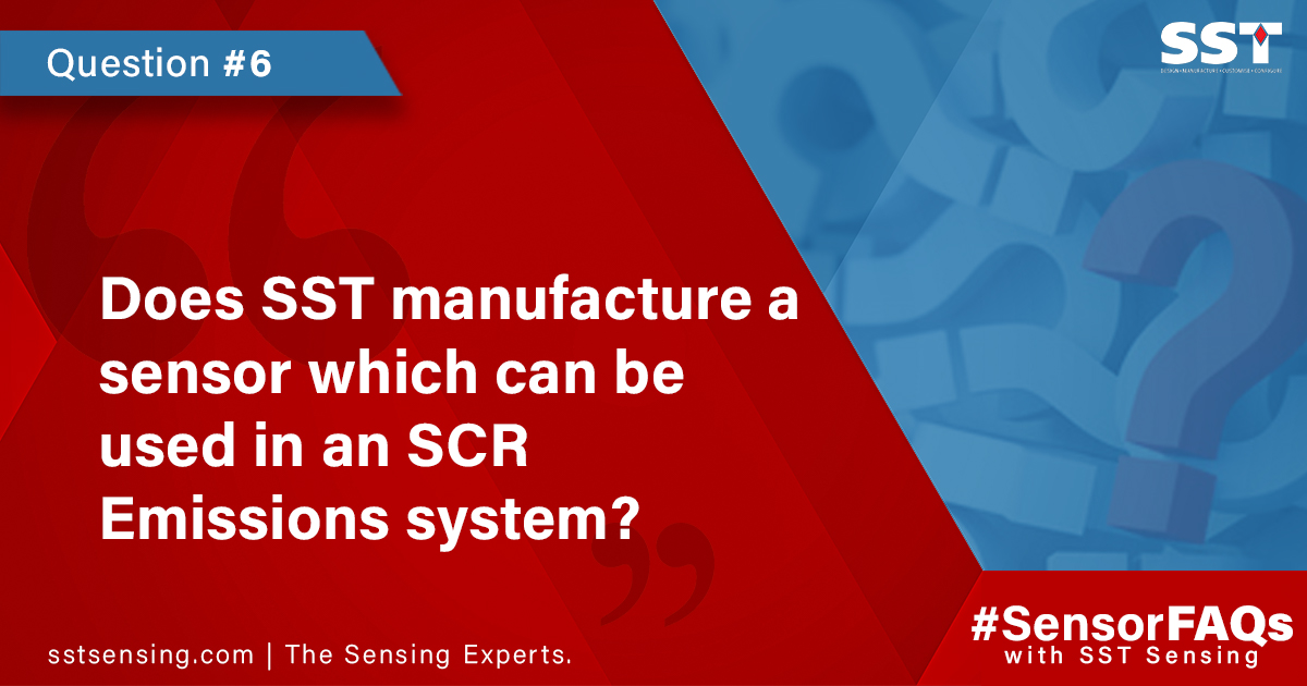 Does SST manufacture a sensor which can be used in an SCR Emissions system