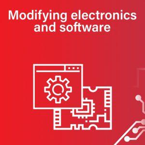 Modifying electronics and software