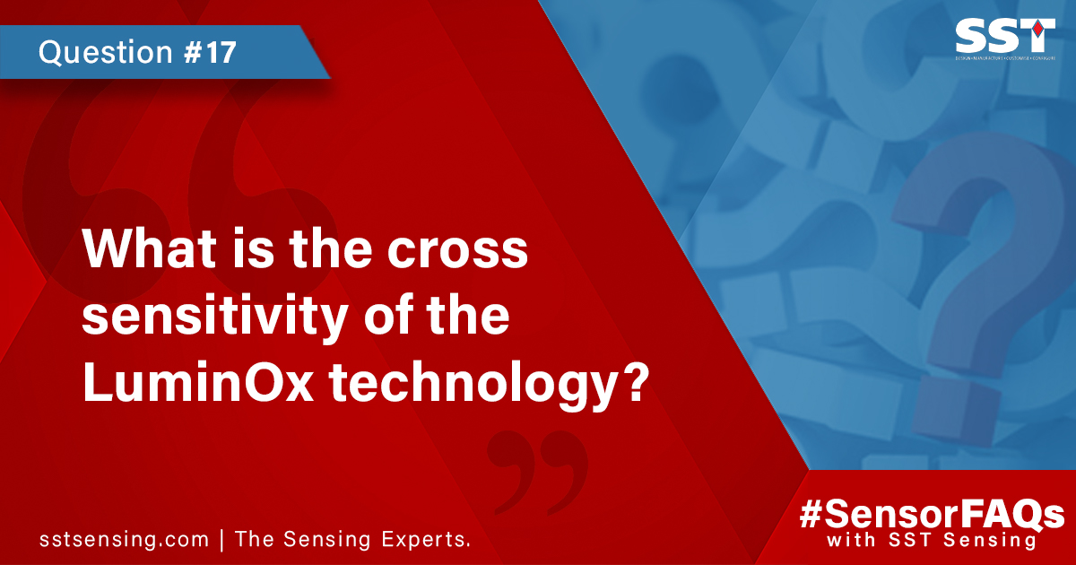 What is the cross sensitivity of the LuminOx technology