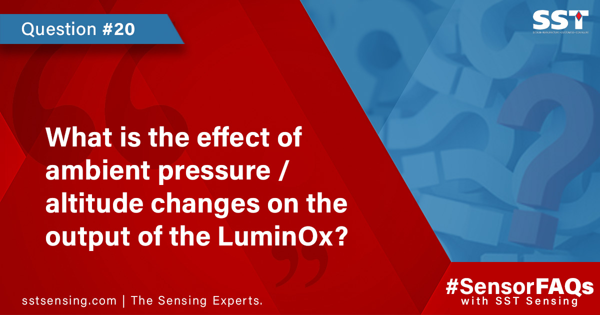 What is the effect of ambient pressure-altitude changes on the output of the LuminOx