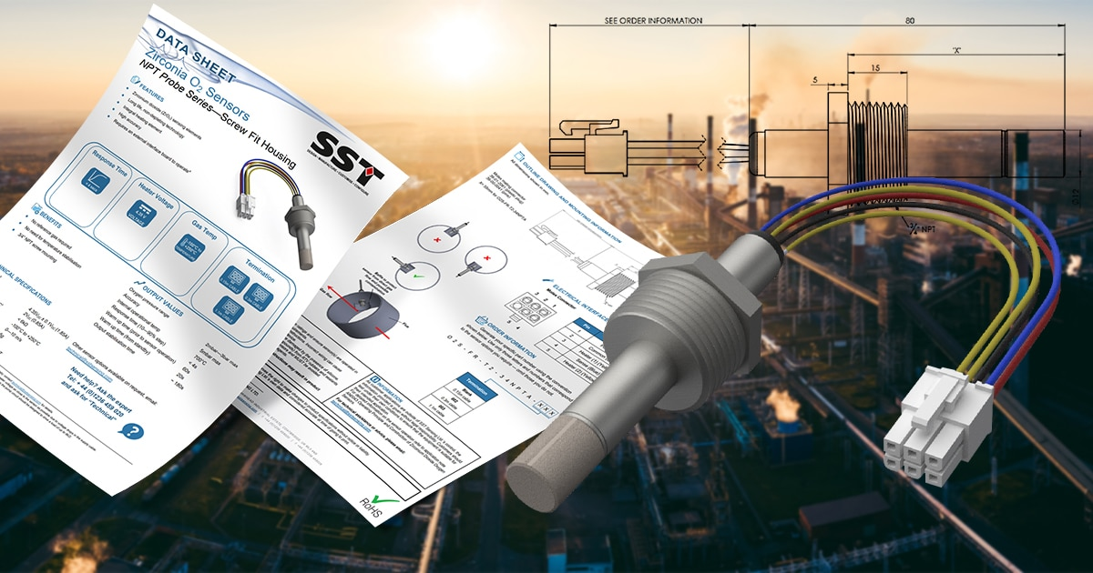 SST Expand Zirconia Oxygen Sensor Screwfit Range to Include NPT Thread