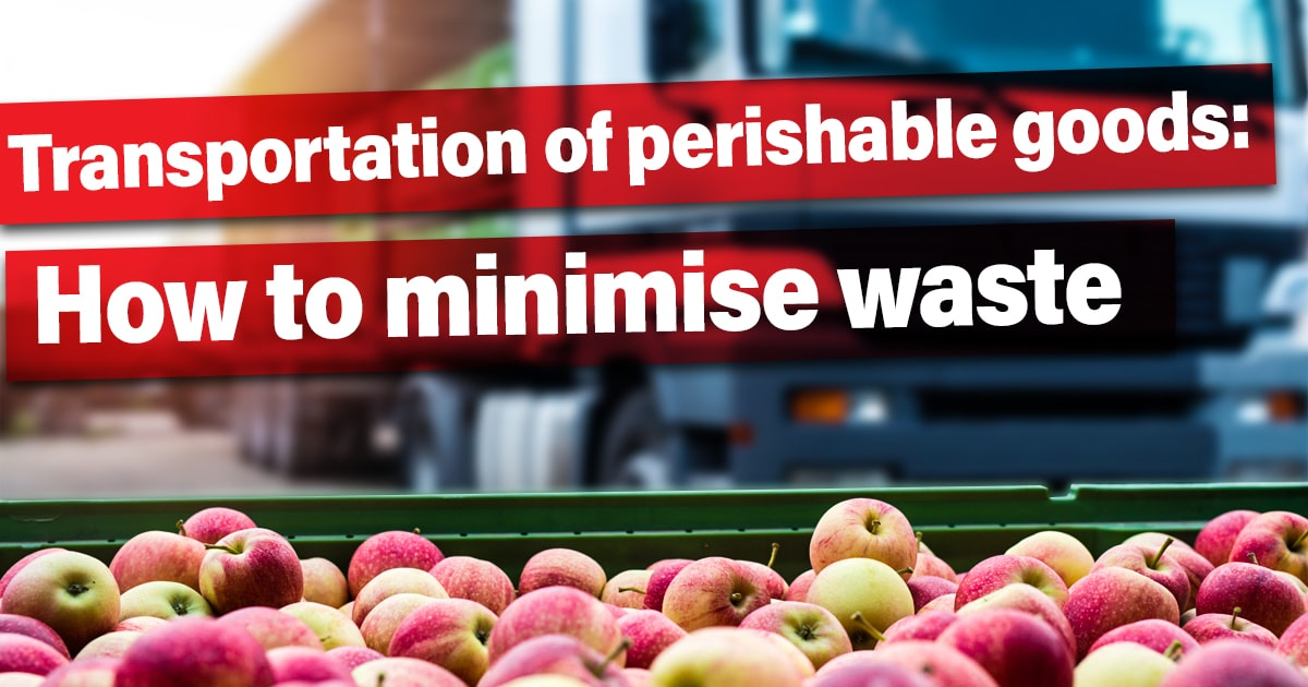 Transportation of perishable goods: How to minimise waste