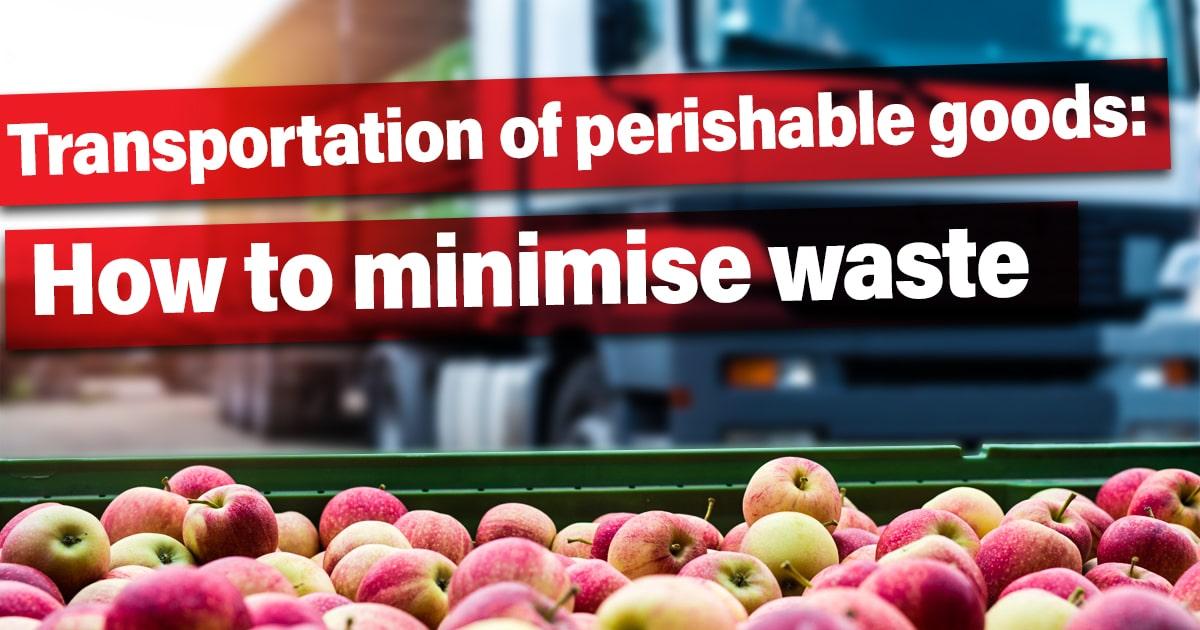 Transportation of perishable goods: How to minimise waste